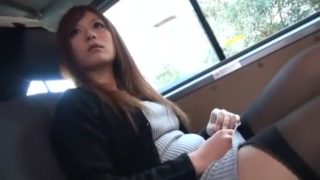 Exotic Japanese chick Haruki Sato in Fabulous Stockings/Pansuto, Public JAV clip